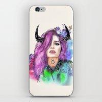 taurus iPhone & iPod Skins featuring Taurus by Sara Eshak