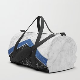 Arrows - White Marble, Blue Granite & Black Granite #974 Duffle Bag