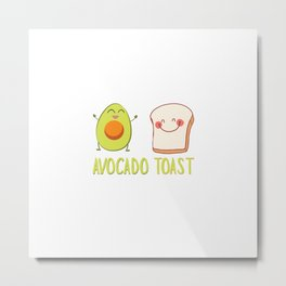 Avocado Toast Art Work | Gift Idea Metal Print
