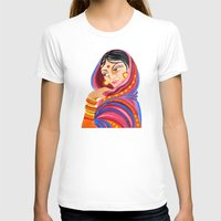 hindu T-shirts featuring Hindu Woman by IlyLilyArt