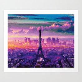 Beautiful Paris Art Print