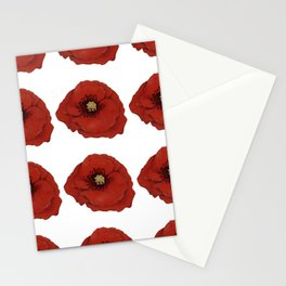 I Adore Poppies Stationery Cards