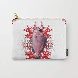 Red Berries Fish Carry-All Pouch