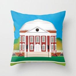 Charlottesville, Virginia - Skyline Illustration by Loose Petals Throw Pillow
