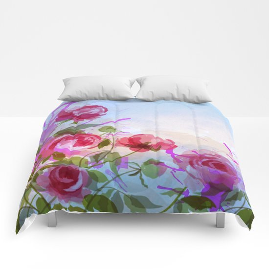 joyful flowers Comforters