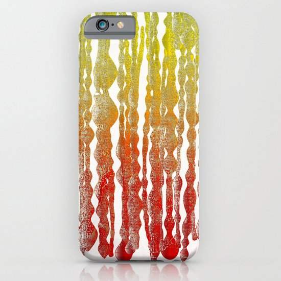 psychedelic stripes - red iPhone & iPod Case
