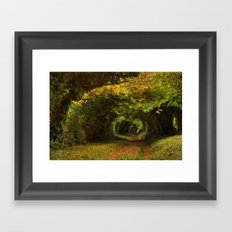 Leaf Your Troubles Behind Framed Art Print