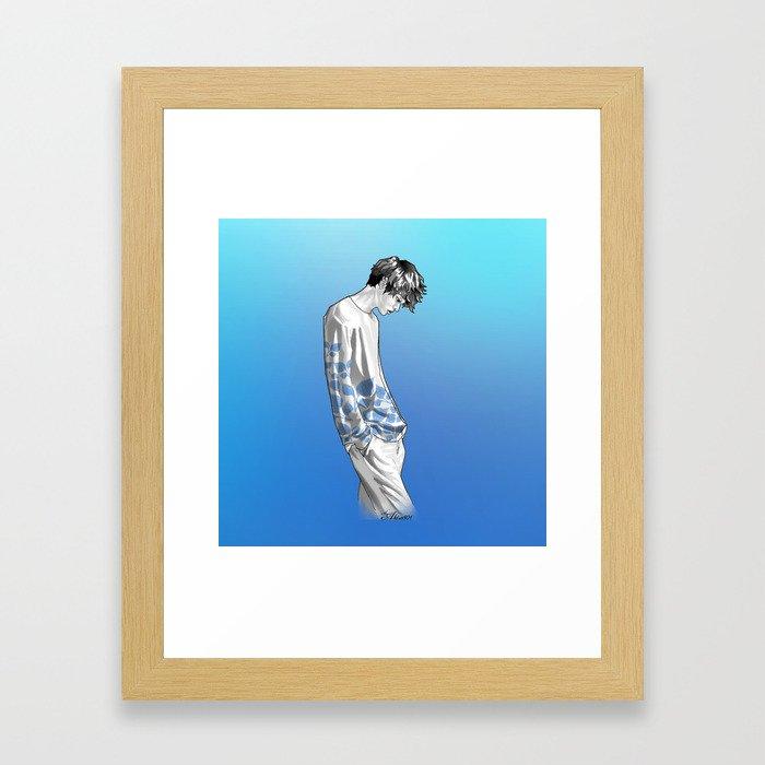 FLOWER BOY TWO: BLUE Framed Art Print