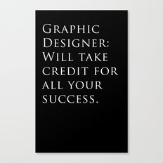 Graphic Designer: Canvas Print
