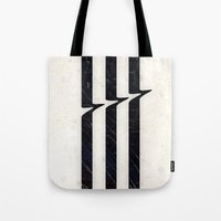 glitch Tote Bags featuring Glitch by Chad De Gris