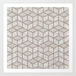 Kenna (Light Grey) Art Print