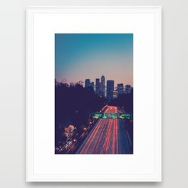 Los Angeles Metropolis Gateway Framed Art Print