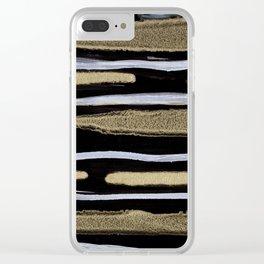 Golden splash Clear iPhone Case