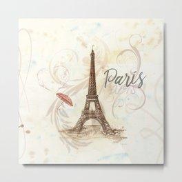 The Eiffel Tower ,-  Love in Paris Metal Print