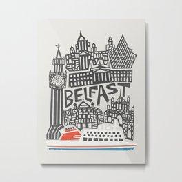 Belfast Cityscape Metal Print