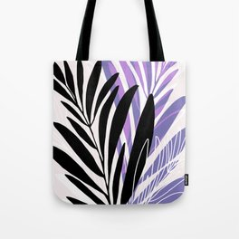 Lavender Olive Branches / Contemporary House Plant Drawing Tote Bag