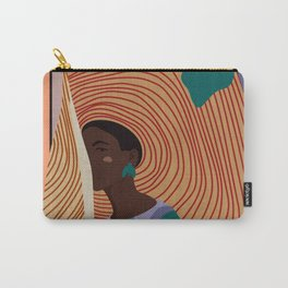 Woman in hat - summer hide Carry-All Pouch