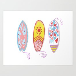 I am on surfing mood Art Print