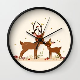 Bisou ma biche Wall Clock