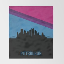Pittsburgh Skyline Throw Blanket