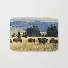 National Parks Bison Herd Bath Mat