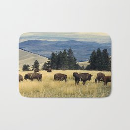 National Parks Bison Herd Bath Mat