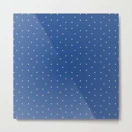 Blue And White subtle pattern Metal Print