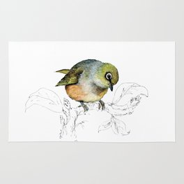 Sylvereye - Waxeye bird Rug