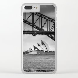 Bridge's, Bird's and Opera Houses Clear iPhone Case