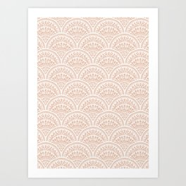 Bohemian Scallops - Burnt Sienna Art Print