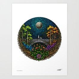 NIGHT WALK - COLORED - Visothkakvei Art Print