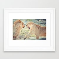 lions Framed Art Prints featuring Lions by Taylor Ward