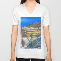 dune V-neck T-shirts featuring Dune by Ana Rafael