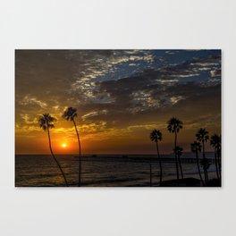 Full view San Clemente T street sunset Canvas Print