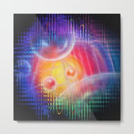 Abstract in perfection 113 - Space and time Metal Print