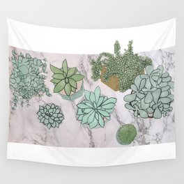 mixed succulents Wall Tapestry