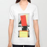 rothko V-neck T-shirts featuring ROTHKO by Marko Köppe