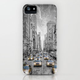 Graphic Art NEW YORK CITY 5th Avenue Traffic iPhone Case