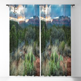 Southwest Serenade - Sunset at Sedona Arizona Blackout Curtain