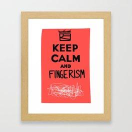 Keep Calm And Fingerism Framed Art Print
