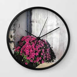 Doorstep Bouquet Wall Clock