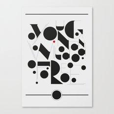 B&W Typography Canvas Print