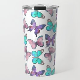Flutter Butterfly Pattern Travel Mug