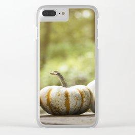 Fall pumpkins, harvest decor Clear iPhone Case
