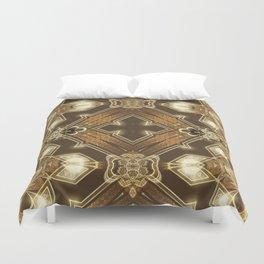 Golden Mali | Fractal Ruffles Duvet Cover