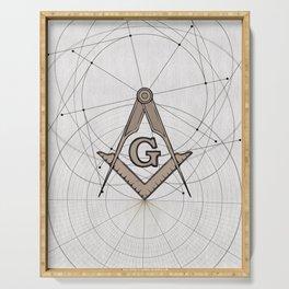 Freemason Symbolism Serving Tray