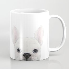 French bulldog white Dog illustration original painting print Coffee Mug
