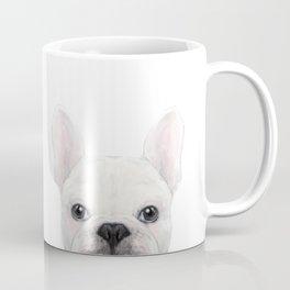 French bulldog white Dog illustration original painting print Coffee Mug