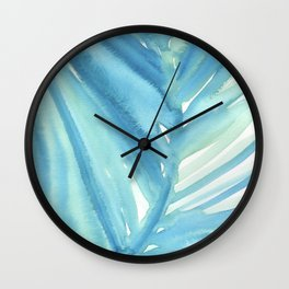 Abstract Palm Leaf Wall Clock