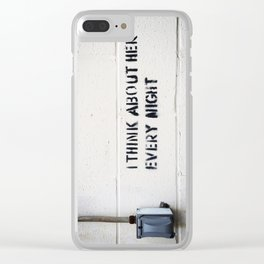 I Think About Her Every Night Clear iPhone Case